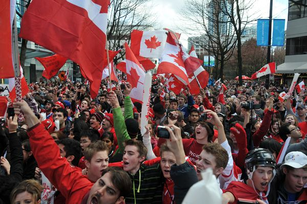 Canadian Olympic fans in Vancouver
